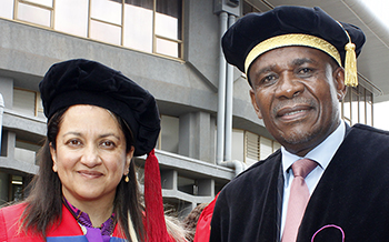Description: Dr Ferial Haffajee summer graduation Tags: Dr Ferial Haffajee summer graduation