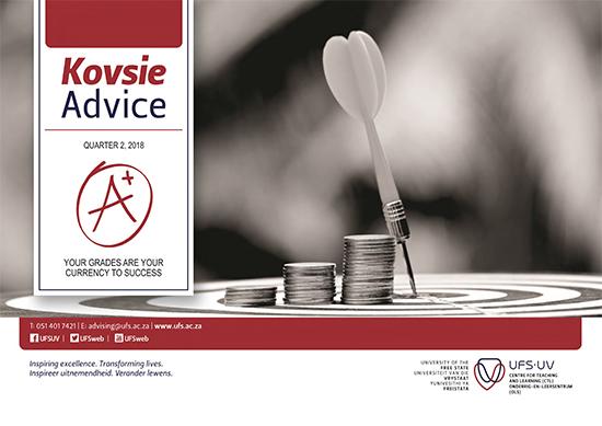 Description: 2018 Kovsie advice 2 Tags: Kovsie advice, advice, student support