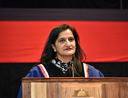 Description: 2018 Prem Govender small Tags: Prem Govender, Adv Shirly Hyland, School of Financial Planning Law, Graduation