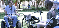 Mathys Roets shows wheelchairs at UFS