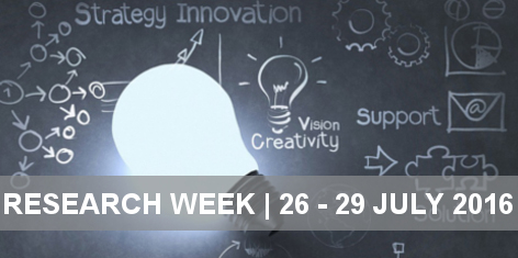 Research Week, 26-29 July 2016