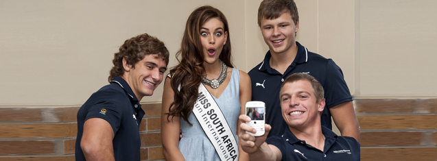 Miss SA and  Young Guns captain motivate Kovsies