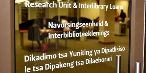 Research Unit at the SASOL Library