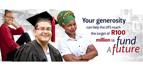 UFS launches Student Bursary Fund to raise R100million
